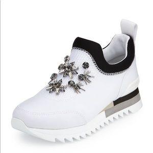 Tory Burch Rosas Crystal Embellish Runner Sneakers